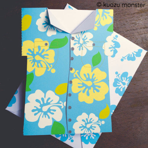 Hawaiian Shirt Printable Card