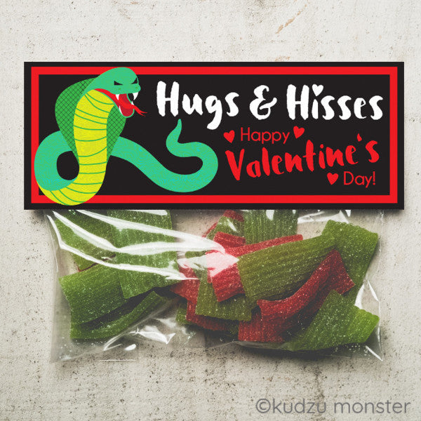 Valentine Snake Treat Topper - Kudzu Monster
