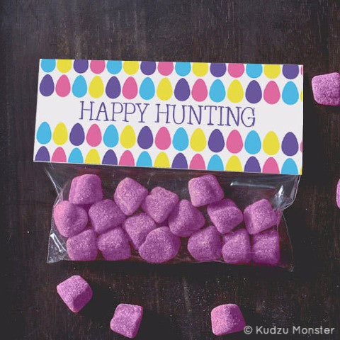Printable Easter Egg Hunt Treat Topper - Kudzu Monster