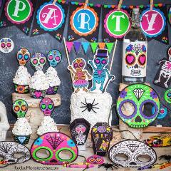 Sugar Skull Day of the Dead Party Kit