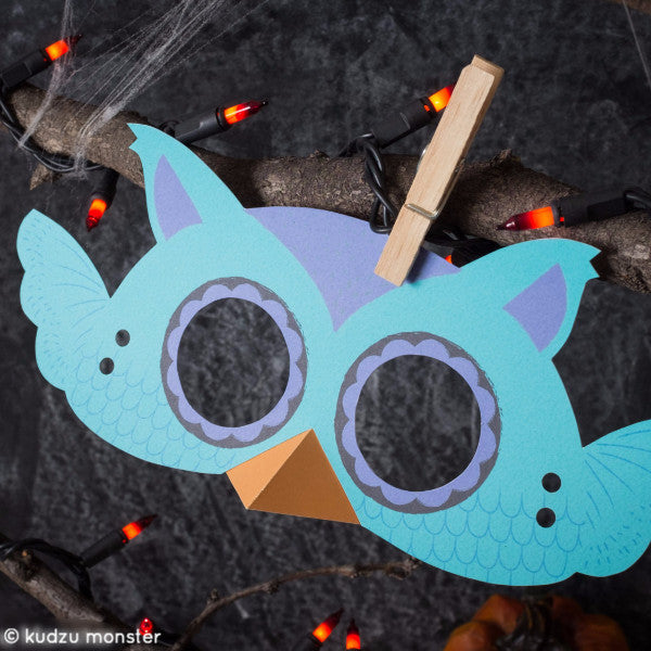 Printable Owl Mask - Kudzu Monster