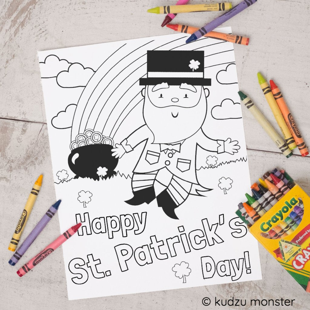 FREE Printable St. Patrick's Day Coloring Sheet