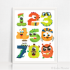 Monster Numbers 123 Printable Art