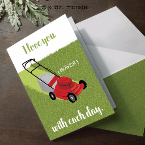Lawn Mower Punny Card