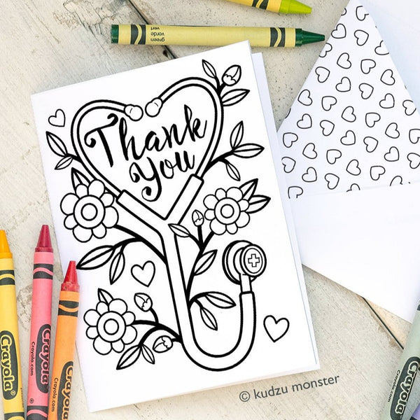 FREE Nurse Appreciation Coloring Card