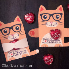 Valentine Orange Kitten Candy Huggers - Kudzu Monster