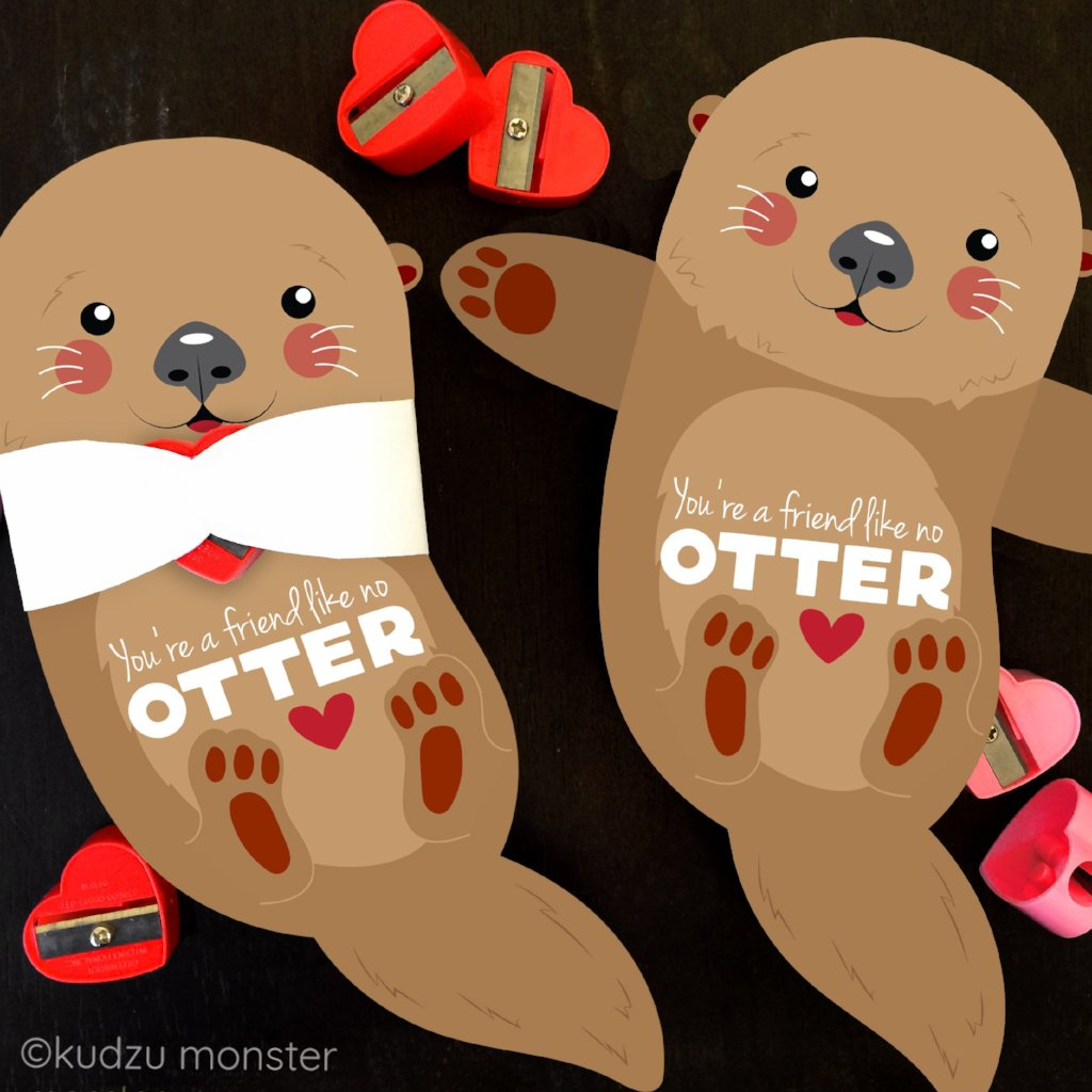 Valentine Otter Candy Huggers