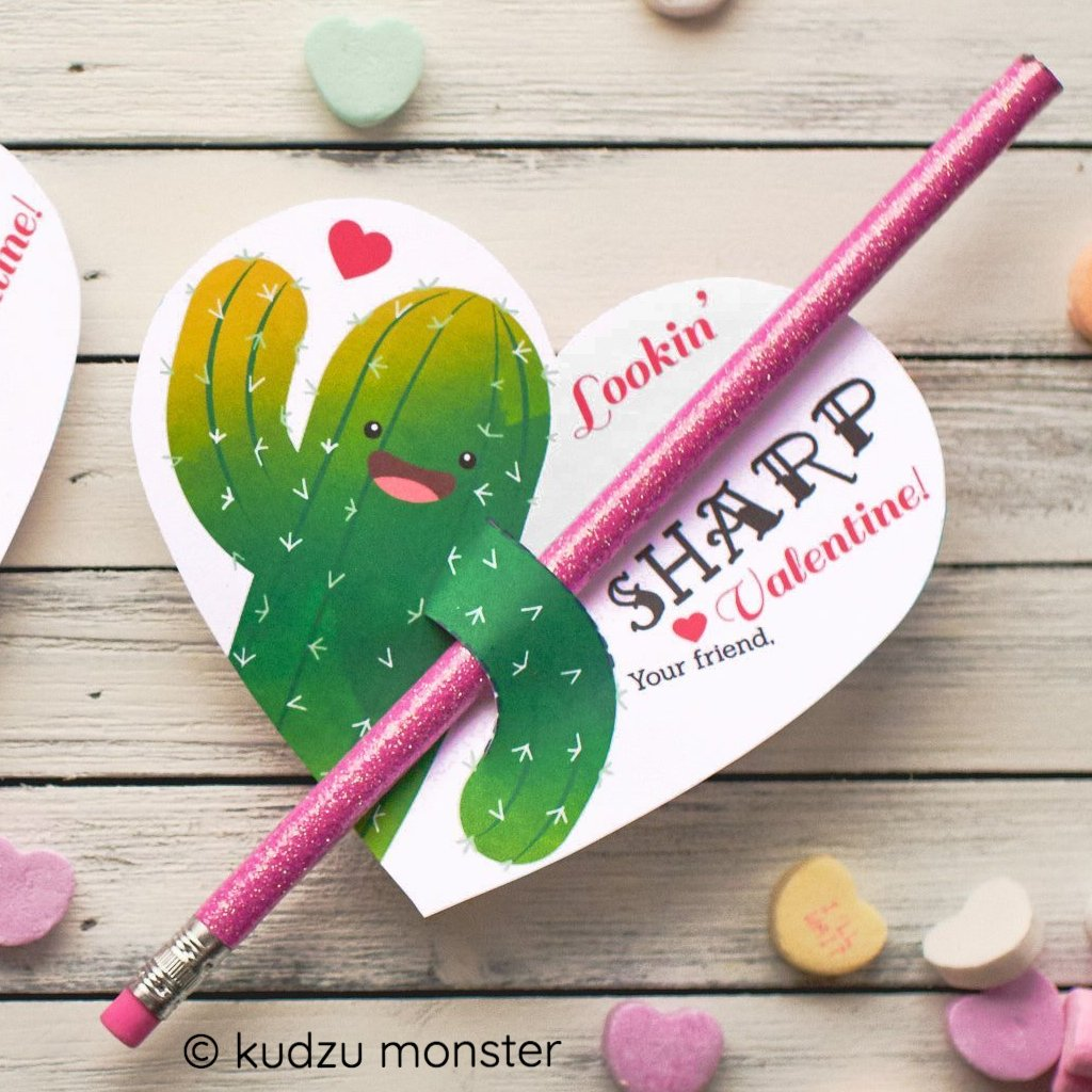 Cactus Pencil Valentine