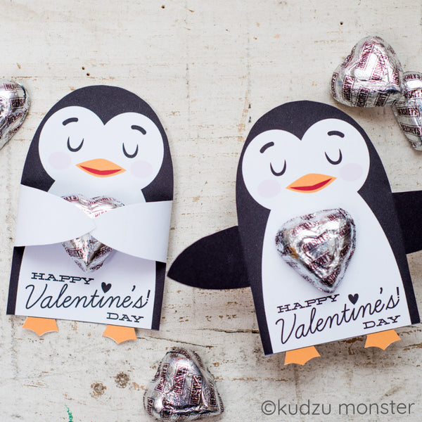 Valentine Penguin Candy Huggers - Kudzu Monster