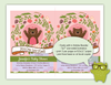 Pink Woodland Bear Printable Invitation - Kudzu Monster  - 2