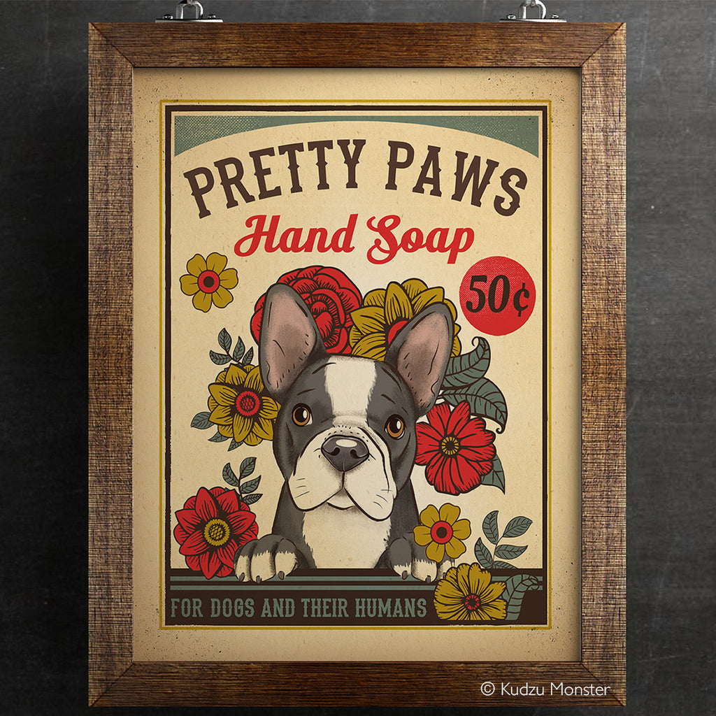 Pretty Paws Soap Vintage Style Art