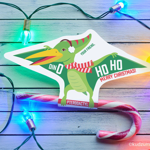 Digital download pterodactyl candy cane holder