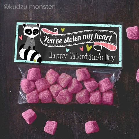 Valentine Raccoon Treat Topper - Kudzu Monster