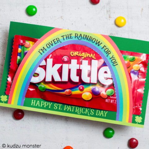 St. Patrick's Day Rainbow Skittles Holder