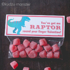 Valentine Raptor Treat Topper - Kudzu Monster