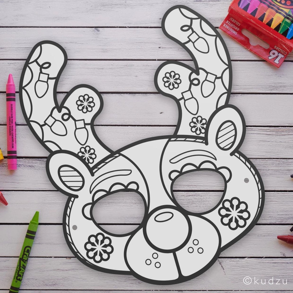 Reindeer Coloring Mask