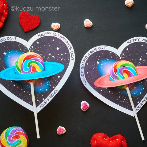 Printable saturn candy valentine
