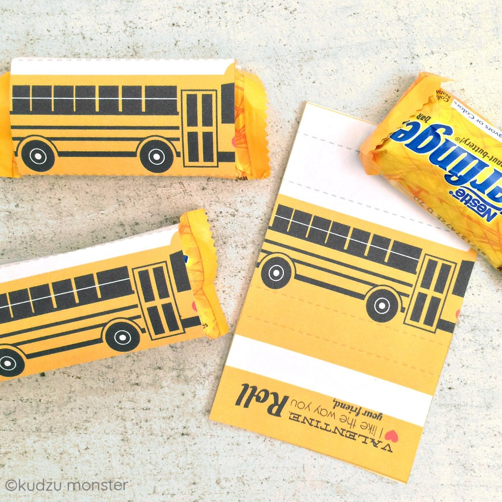 School Bus Valentine