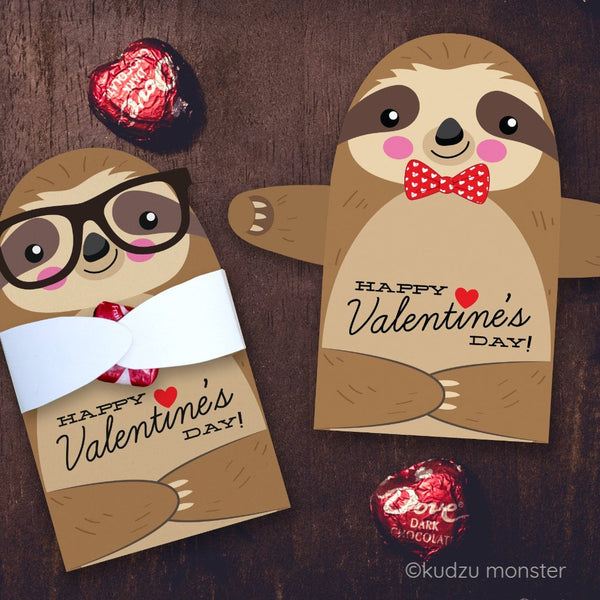 Valentine Sloth Candy Huggers