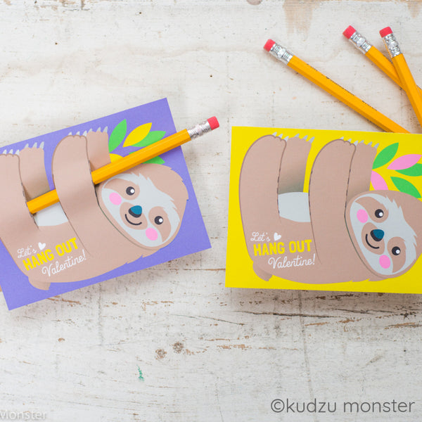 Valentine Sloth Huggers - Kudzu Monster