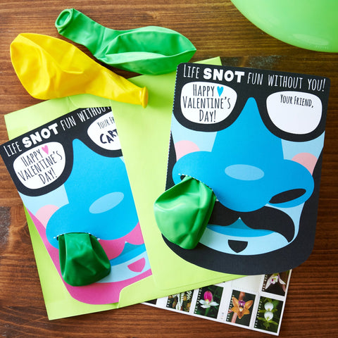 Printable snot balloon valentine's day card