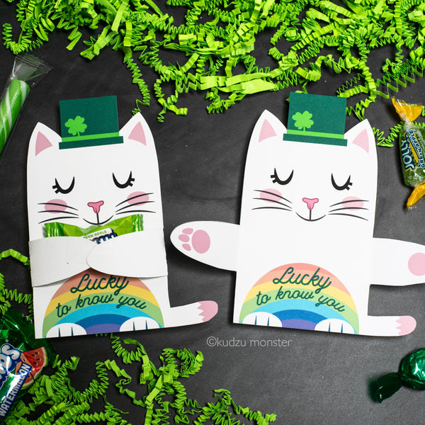 Cat Leprechaun Candy Hugger