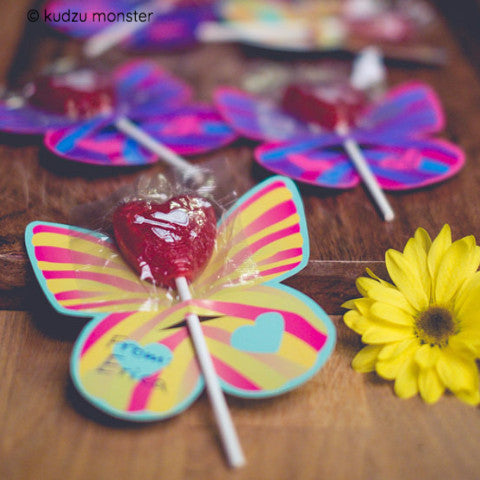 FREE butterfly lollipop holder - Kudzu Monster