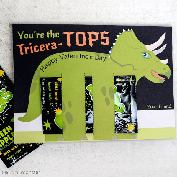 Valentine Triceratops Candy Huggers
