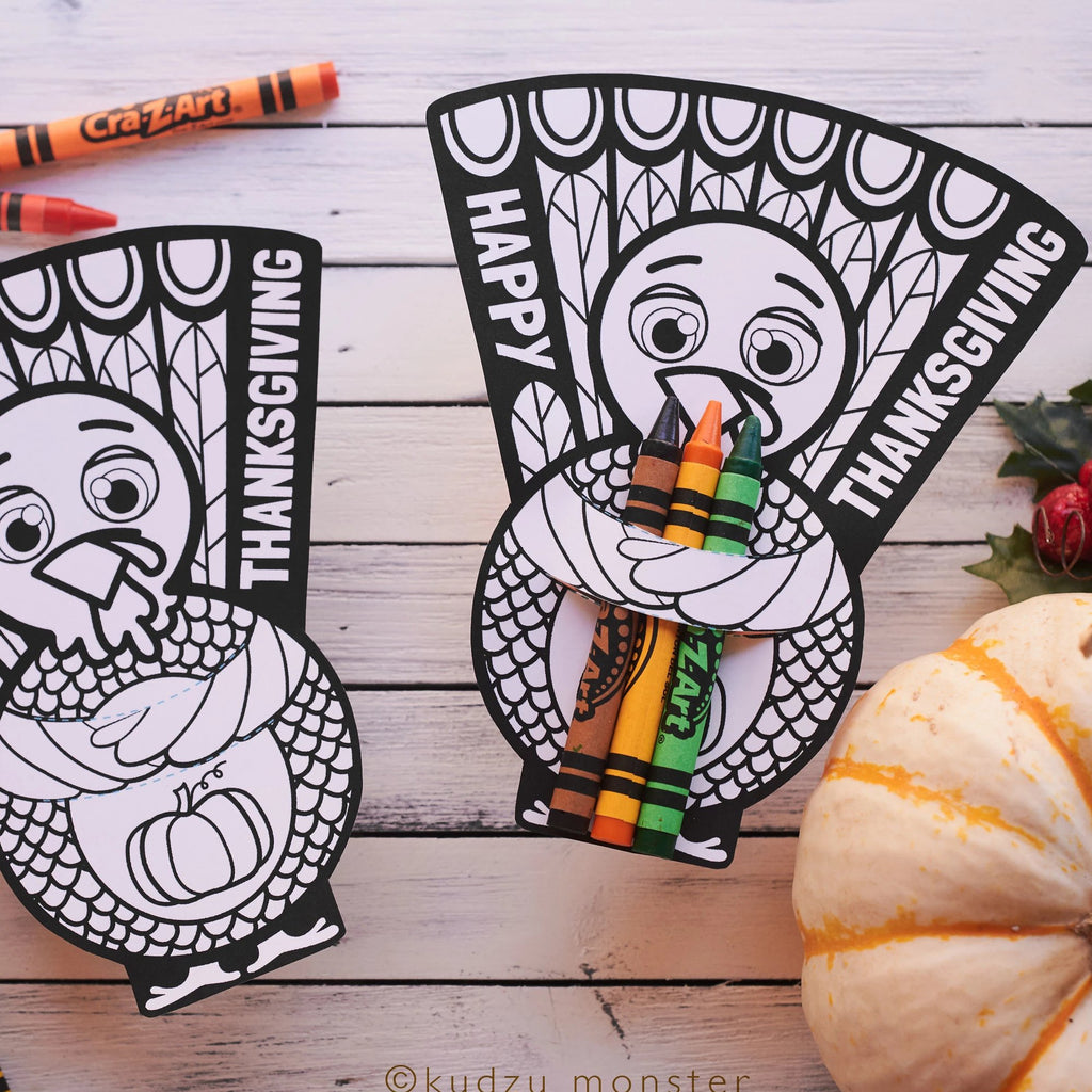 Thanksgiving Turkey Crayon Hugger