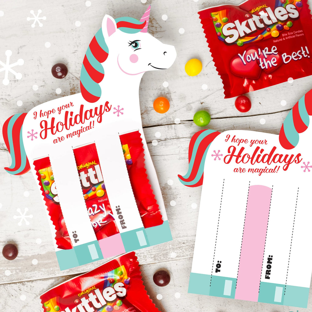 Unicorn Skittles Holiday Card