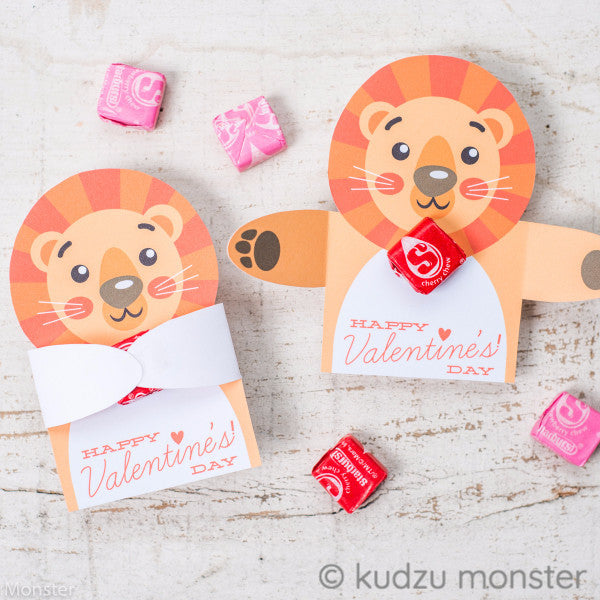 Valentine Lion Candy Huggers - Kudzu Monster