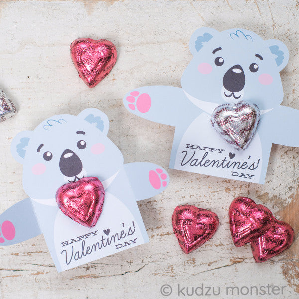 Valentine Koala Bear Candy Huggers - Kudzu Monster