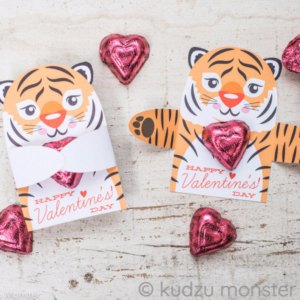Valentine Tiger Candy Huggers - Kudzu Monster