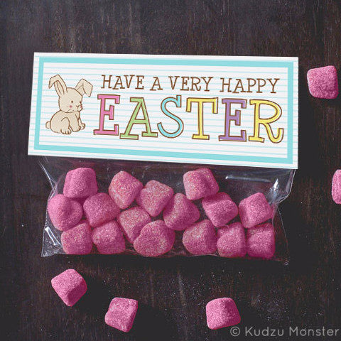 Printable Easter Treat Topper - Kudzu Monster