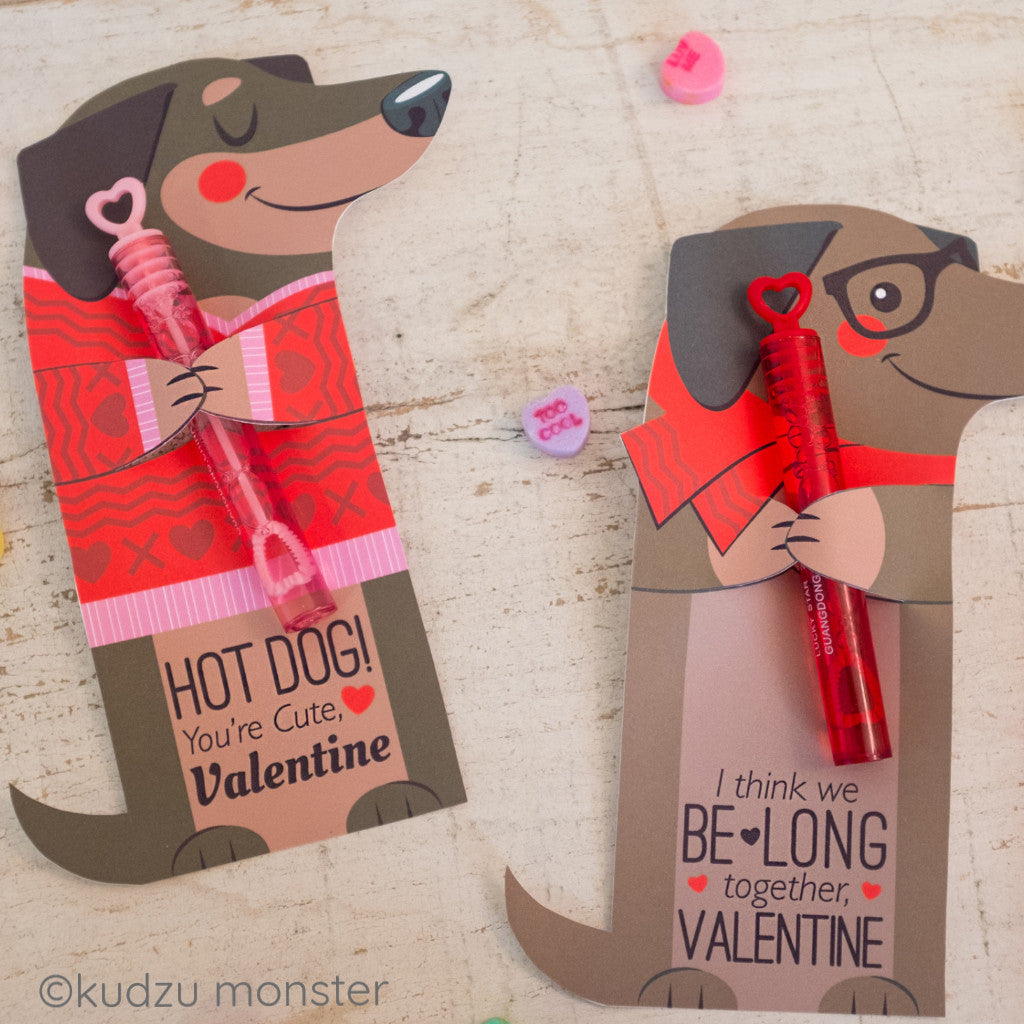 Valentine Weenie Dog Huggers - Kudzu Monster