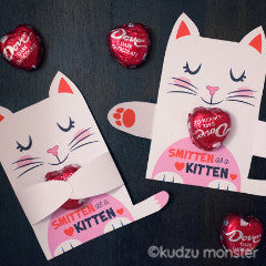 Valentine White Kitten Candy Huggers - Kudzu Monster