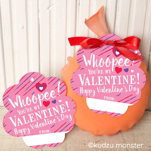 Printable whoopee cushion non-candy valentine