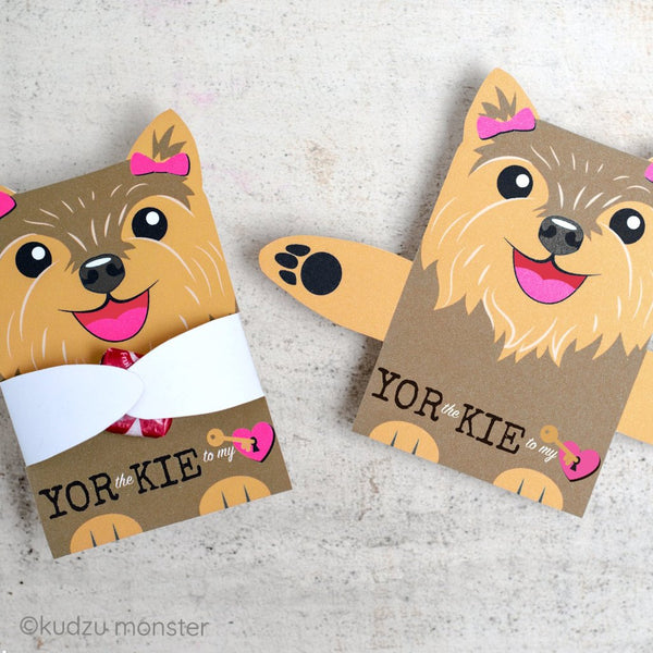 Valentine Yorkie Girl Candy Huggers