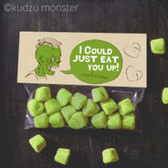 Valentine Zombie I Could Just Eat You Up Treat Topper - Kudzu Monster