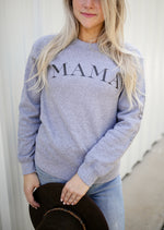 mama grey fleece pullover
