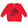 red fleece kid pullover be a buddy not a bully anti-bullying graphic shirt