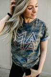 PREORDER (Ships By May 30) MAMA Modern Camo + Metallic Rose Gold Kyla Tee