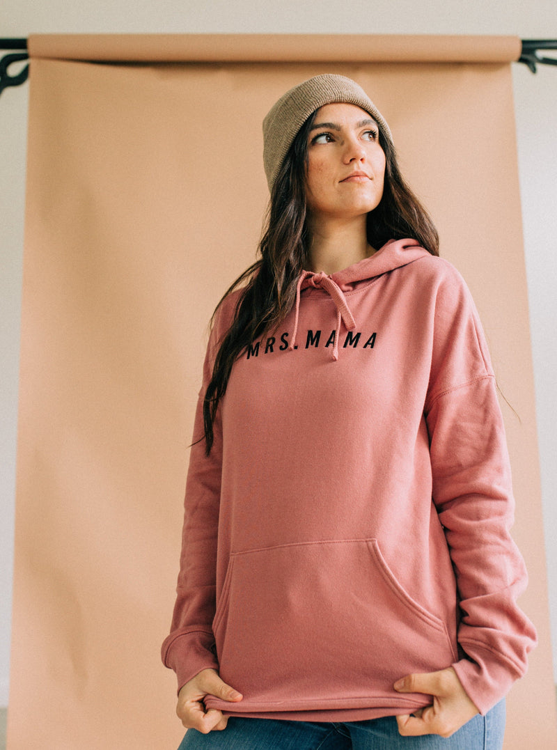 Mrs. Mama Embroidered LANDRIE Hoodie