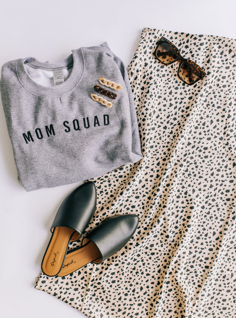 Mom Squad Embroidered LULU Pullover