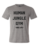 Human Jungle Gym Grey + Matte Black Ink Dad Tee