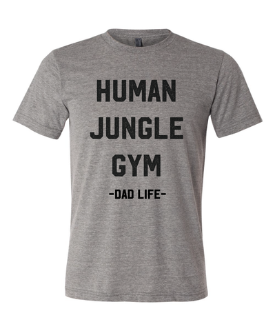 Human Jungle Gym Red + Matte Black Ink Dad Tee