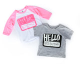 Hello, My Name is Big Brother/Sister Raglan