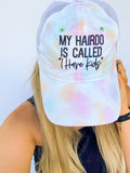 My Hairdo Is Called I Have Kids Pastel Tie-Dye + Charcoal Embroidered Trucker Hat *Final Sale