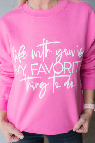 No Love Like Mom Love Rose Quartz + Metallic Rose Gold Ink Hadley Fleece Pullover