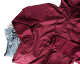 One Tough Mama Maroon + Metallic Rose Gold Ink Windbreaker Jacket